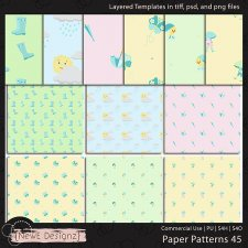 EXCLUSIVE Layered Paper Patterns Templates Set 45 by NewE Designz