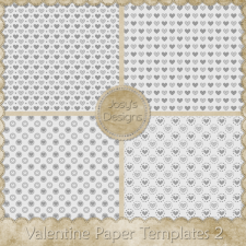 Valentine Paper Layered Templates 2 by Josy