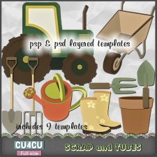 Gardening Tool Templates CU4CU by Scrap and Tubes