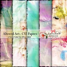 Altered Art- Papers by AneczkaW