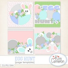 Egg Hunt Page Templates by Kim Cameron