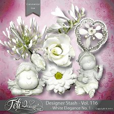 Designer Stash Vol 116 - White Elegance No 1 by Feli Designs