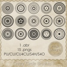 Crazy Circle Brushes 1 by Josy