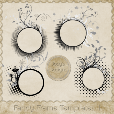 Fancy Frame Layered Templates 1 by Josy