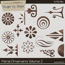 Metal Ornaments Vol 2 - EXCLUSIVE Designs by Ohana