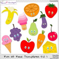 Fun of Food Templates CU 1 by Giane Designs