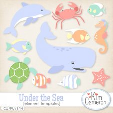 Under the Sea Templates by Kim Cameron