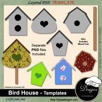Bird House TEMPLATES by Boop Designs
