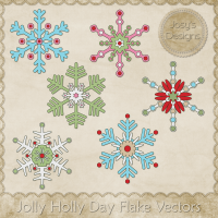 JC Jolly Holly Day Flake Vectors