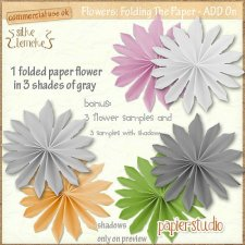 Embellishment-Flower CU: Folding The Paper- Add-On EXCLUSIVE by PapierStudio Silke