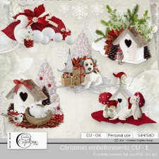 Christmas embellishments - CU 1 by Cajoline-Scrap