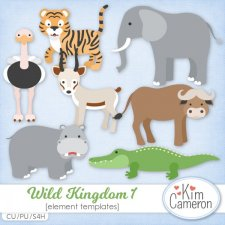 Wild Kingdom 1 Templates by Kim Cameron