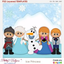 Ice Princess Layered Element Templates