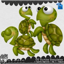 Turtles Layered Template by Peek a Boo Designs