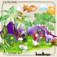 CU Vol 437 Dinosaurs by Lemur Designs