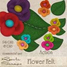 Action - Flower Felt I by Rose.li