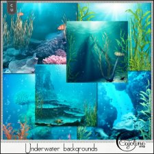 Underwater backgrounds by Cajoline-Scrap