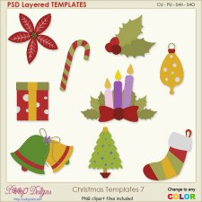 Christmas Layered TEMPLATES 7