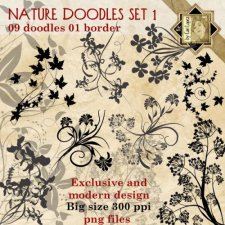 Nature Doodles Set 1 by Cari Lopez