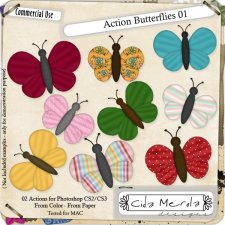 Butterflies 01 Action by Cida Merola