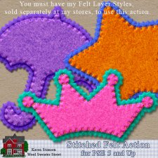 Stitched Felt Action for PSE by Karen Stimson