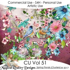 Spring Floral Clusters - CU Vol 51 by MagicalReality Designs