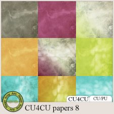 EXCLUSIVE Papers 8 CU4CU by Happy Scrap Arts