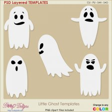 Halloween Ghost Layered TEMPLATES
