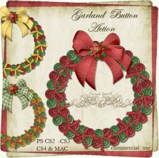 Action - Christmas Garland Button by Rose.li