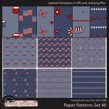 EXCLUSIVE Layered Paper Patterns Templates Set 40 by NewE Designz