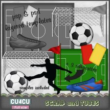 Soccer Templates CU4CU by Scrap and Tubes