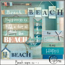 Beach signs CU - 1 by Cajoline-Scrap