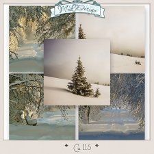 Cu set 115 Winter Papers by MLDesign