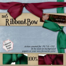 Ribbon and Bow no5 by Monica Larsen