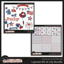 EXCLUSIVE Layered 4th of July Templates BUNDLE by NewE Designz