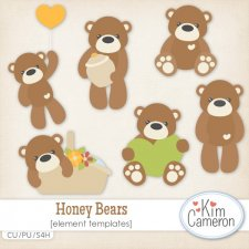 Honey Bears Templates by Kim Cameron