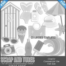 Vintage Summer Templates CU4CU by Scrap and Tubes