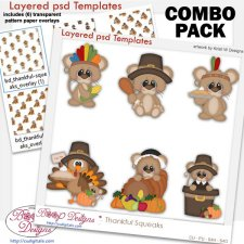 Thankful Squeaks Mice Layered Template COMBO Pack