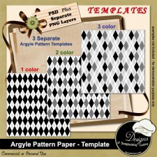 Argyle Pattern Paper TEMPLATES by Boop Designs