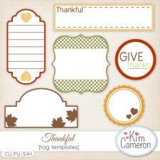 Thankful Tags by Kim Cameron