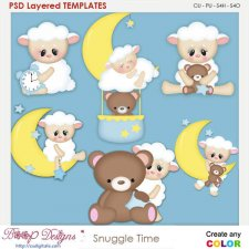 Snuggle Time Layered Element Templates