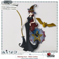 Witching Hour-Witch Combo: Actions, Templates, Shape & Embellishments