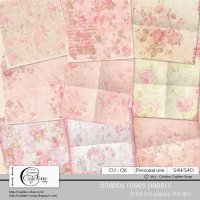 Shabby roses papers 1 by Cajoline-Scrap