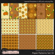 EXCLUSIVE Layered Paper Patterns Templates Set 10 by NewE Designz