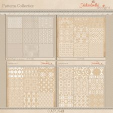 Patterns Collection Damask Transparencies CU - S4H by SnickerdoodleDesigns