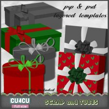 Gift Boxes Templates CU4CU by Scrap and Tubes