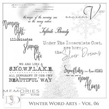 Winter Word Arts Vol 06 by D's Design