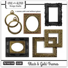 Black & Gold Frame Collection
