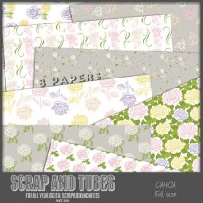 Rose Papers CU4CU by Scrap and Tubes