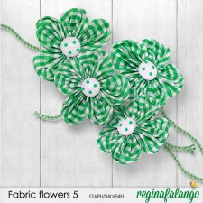 Fabric flowers 5 by reginafalango